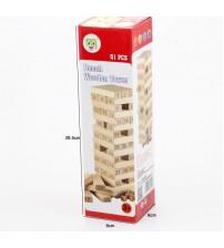 Bộ đồ chơi rút gỗ 51 thanh gỗ bạch dương